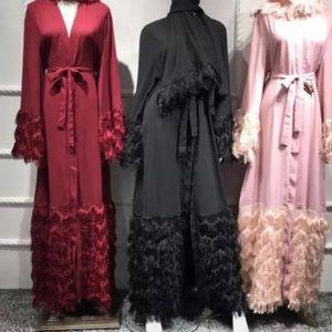 Feather abaya